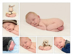 Collage newbornfoto'